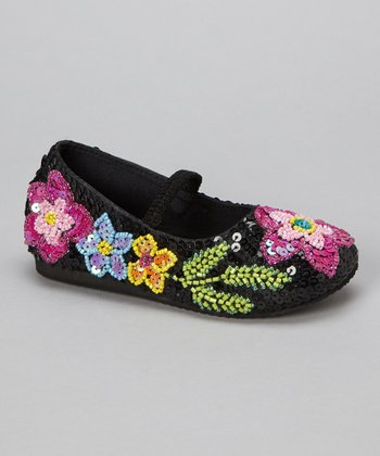 Black Blooming Blossom Flower Flat