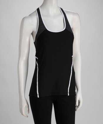 Black & White Color Block Tank