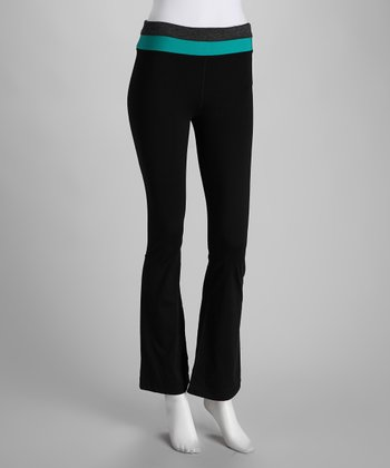 Black & Jade Yoga Pants