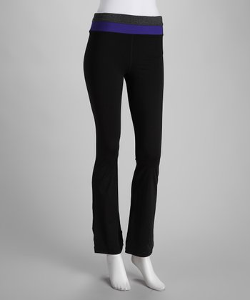 Black & Purple Yoga Pants