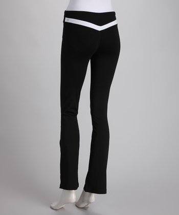 Black & White V-Back Yoga Pants