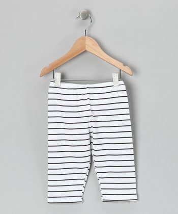Black & White Poppy Stripe Pants - Toddler & Girls