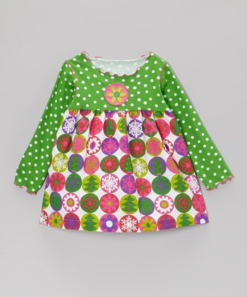 Green Christmas Swing Top - Infant, Toddler & Girls
