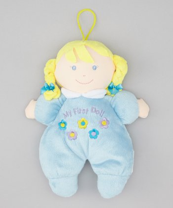 Blue 'My First Doll' Blonde Toy