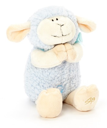 Blue Praying Lamb Plush Toy