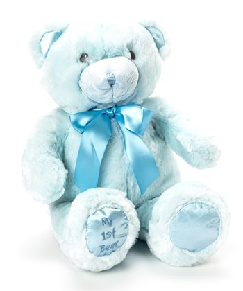 "Blue ""My First Bear' Plush Toy"
