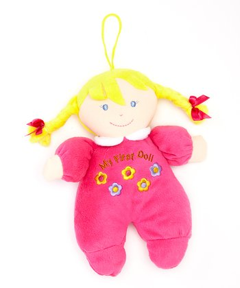 Hot Pink 'My First Doll' Blonde Toy