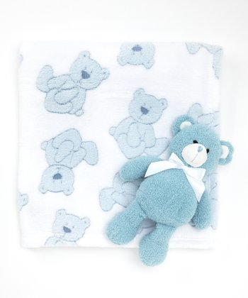 Blue Bear Stroller Blanket & Plush Toy