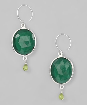 Evergreen Peridot & Sterling Silver Cabo Gem Drop Earrings