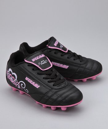 Black & Pink Heart Cleat