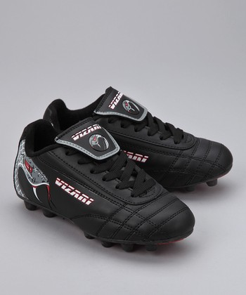 Black & Red Snake Cleat - Boys