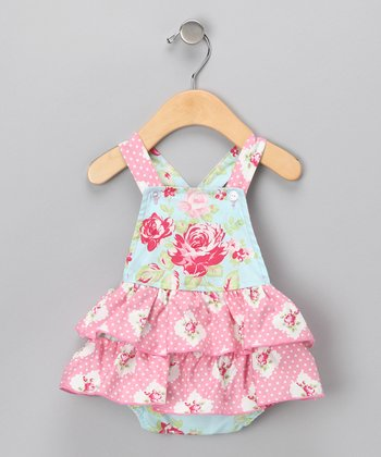 Blue Pretty Rose Skirted Bodysuit