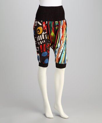 Black Harem Bermuda Shorts