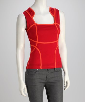 Red & Orange Tank - Women