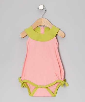 Bubblegum Quilted Organic Yoke Bubble Bodysuit - Infant
