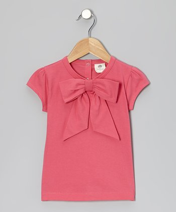 Carnation Bow Organic Cap-Sleeve Tee - Infant