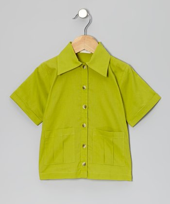 Dill Pocket Organic Button-Up - Infant