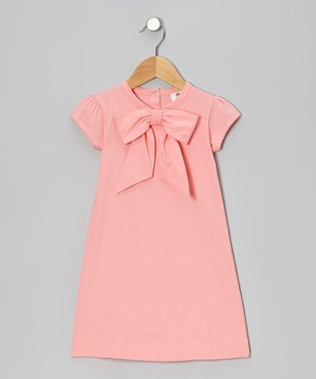 Bubblegum Bow Organic Cap-Sleeve Dress - Infant