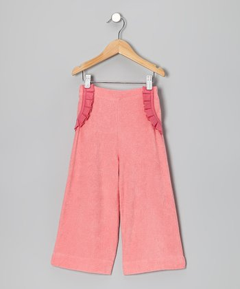 Bubblegum Pleated Ruffle Organic Pants - Infant, Toddler & Girls