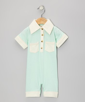 Water Organic Polo Romper - Infant