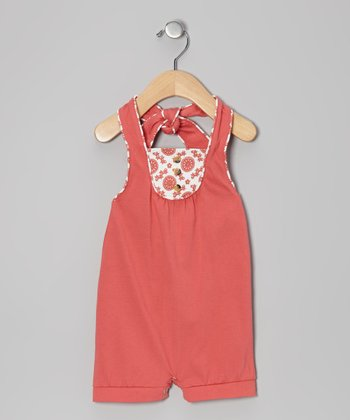 Coral Organic Halter Sunsuit - Infant