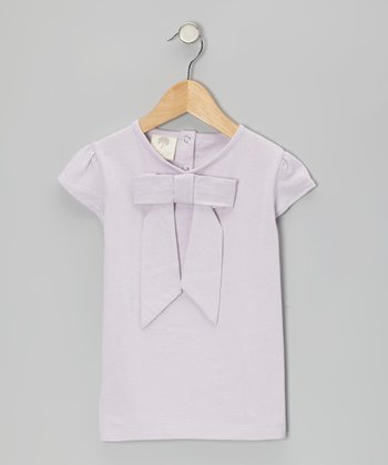Lilac Bow Organic Top - Infant