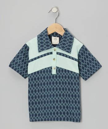 Twilight Argyle Organic Polo - Infant