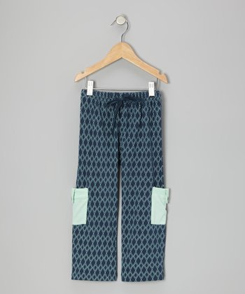 Twilight Argyle Organic Cargo Pants - Infant