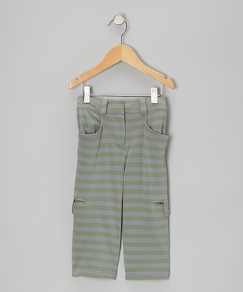 Rosemary Stripe Organic Cropped Pants - Infant, Toddler & Boys