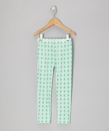 Aqua Fleur Plume Organic Leggings - Infant & Toddler