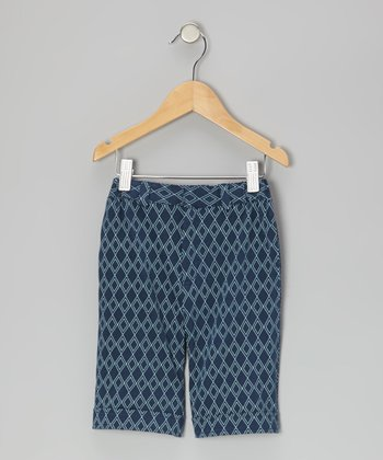 Twilight Argyle Organic Shorts - Infant & Toddler