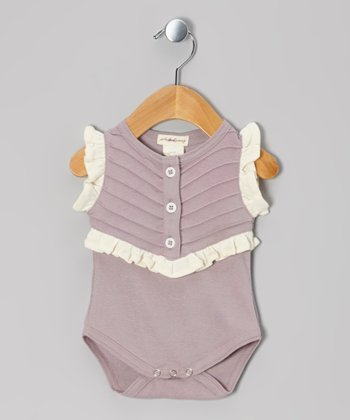 Quail Pintuck Ruffle Knit Organic Bodysuit - Infant