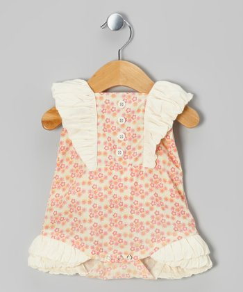 Calico Ruffle Woven Organic Bubble Bodysuit - Infant