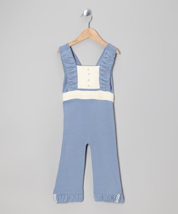 Starry Night Ruffle Bow Knit Organic Sunsuit - Infant, Toddler & Girls
