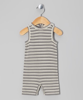 Plum Bunny Stripe Organic Sleeveless Sweater Romper - Infant