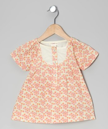 Calico Puff-Sleeve Woven Organic Top - Infant