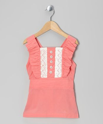 Strawberry Lace Woven Organic Top - Infant, Toddler & Girls