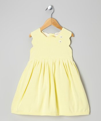Finch Yellow Organic Sweater Dress - Infant & Toddler