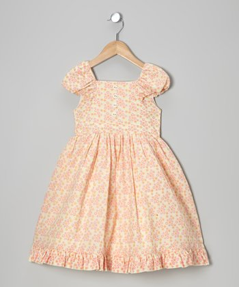 Calico Ruffle Woven Organic Party Dress - Infant, Toddler & Girls