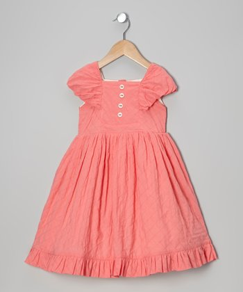 Strawberry Quilted Organic Party Dress - Infant & Toddler
