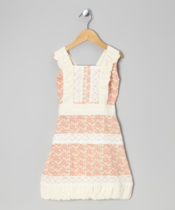 Calico Lace Woven Organic Sundress - Infant, Toddler & Girls