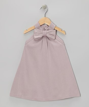 Quail Bow Knit Organic Dress - Girls