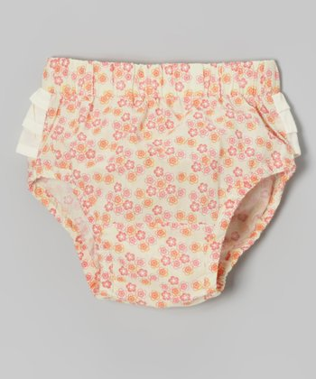 Calico Ruffle Woven Organic Diaper Cover - Infant
