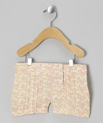 Calico Pintuck Woven Organic Shorts - Infant, Toddler & Girls