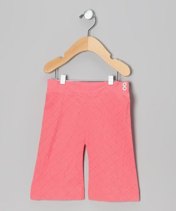 Strawberry Quilted Organic Capri Pants - Infant