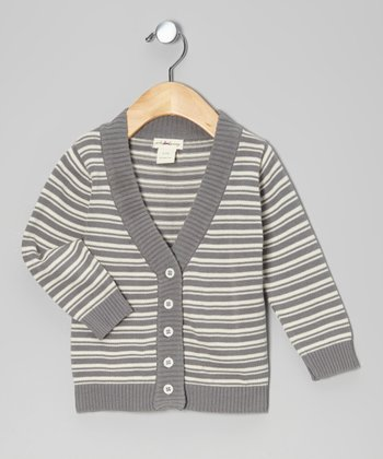 Plum Bunny Stripe Organic Cardigan - Infant & Boys