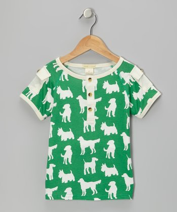 Green Dog Pocket Organic Henley - Infant, Toddler & Kids