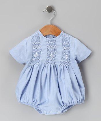 Blue Tom Smocked Bubble Bodysuit - Infant