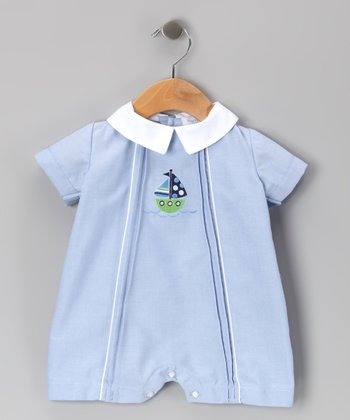 Blue Sailboat Romper - Infant