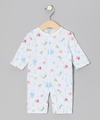 White Sea Life Playsuit